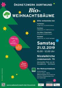 Bioweihnachtsbaum verkauf Plakat